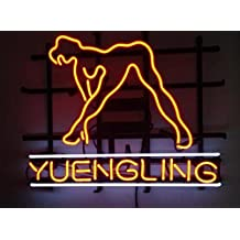 "Yuengling Sexy Girl Beer Neon Sign 20""x16"" Inches Bright Neon Light Display Mancave Beer Bar Pub Garage"