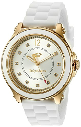 Juicy Couture Women's 'Hollywood' Quartz Resin and Silicone Casual Watch, Color:White (Model: 1901416) ()