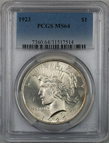 1923 Peace Silver Dollar Coin $1 PCGS MS-64 (2C)