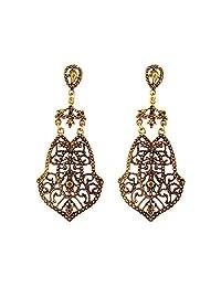Coromose Women Alloy Leaves Stud Dangle Earings Eardrop Jewelry