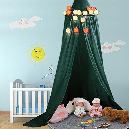 ZJchao Dosel Cama de Canvas Plegable Teepee Tienda niños bébe Protección Buena Playhouse Mosquitero de Aire Indoor...