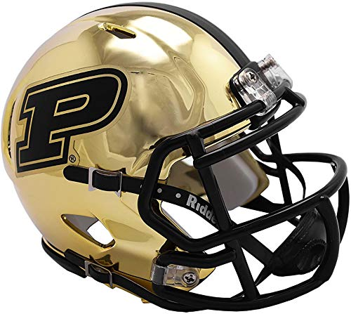 Sports Memorabilia Riddell Purdue Boilermakers Chrome Alternate Speed Mini Football Helmet - College Mini Helmets