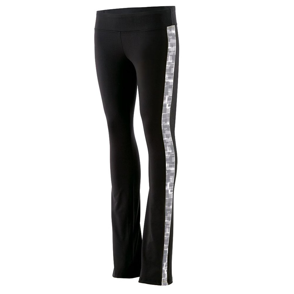 Holloway Juniors Superstar Fitted Pants (Large, Black/Graphite Print) by Holloway