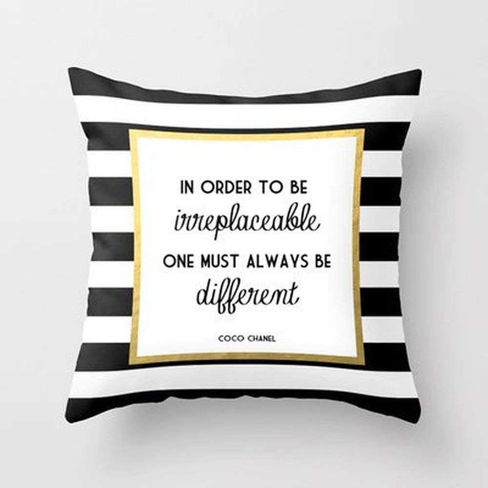 Zhi Fan Home Décor New Coco Gold Fashion Quote Pillowcase Home Decoration Pillowcase Covers 18X18