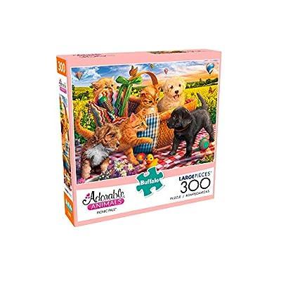 Buffalo Games - Adorable Animals - Picnic Pals - 300 Piece Jigsaw Puzzle: Toys & Games