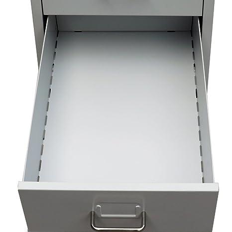 Festnight Archivador de Metal Alacena de Oficina con 5 Cajones Color Gris 28 x 41 x 68,5 cm: Amazon.es: Hogar