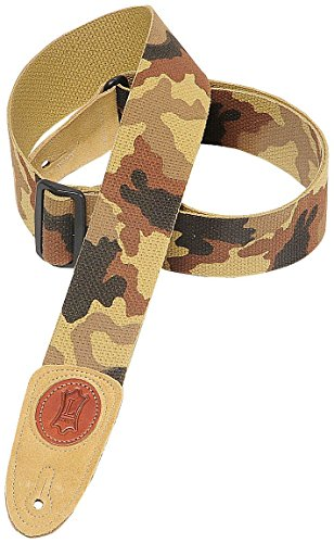 Levy's Leathers 2 Cotton Guitar Strap,Desert Camouflage
