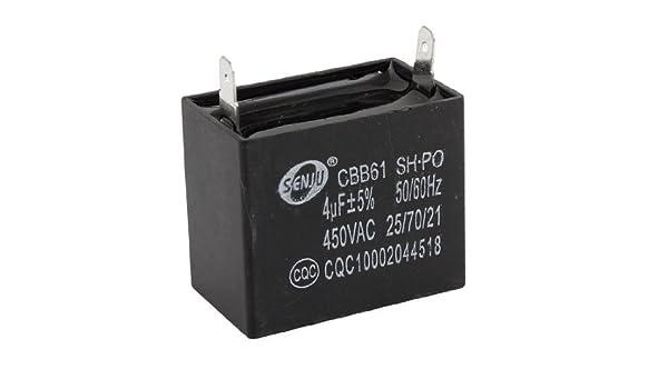 CBB61 4uF 450V AC acondicionador de aire del motor del ventilador ...