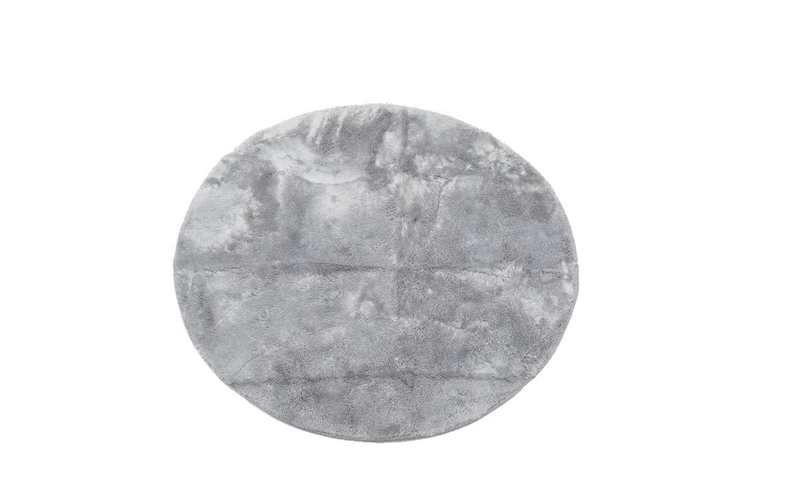円形 シャギーラグ