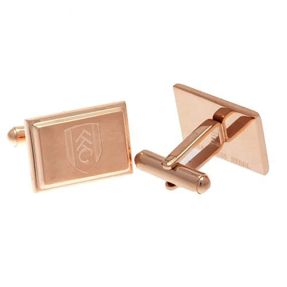 Official Licensed Fulham F.C Rose Gold Plated Cufflinks