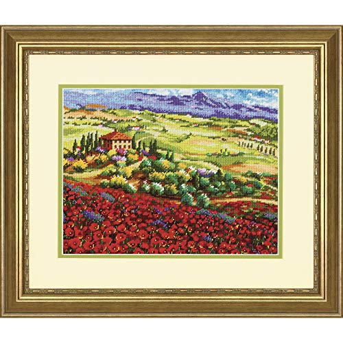 Dimensions Tuscan Poppies Needlepoint Kit, 14 Mesh Canvas, 14'' x 11''