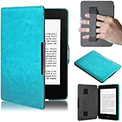 Kindle Paperwhite, LUNIWEI Leather Smart Cover Case