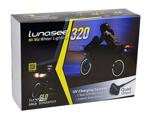 Lunasee 320 Hi-Viz Wheel Light Kit - 2 Wheels - NOW ALL INCLUSIVE! - Includes LunaGLO rim tape & Tape Applicator Tool