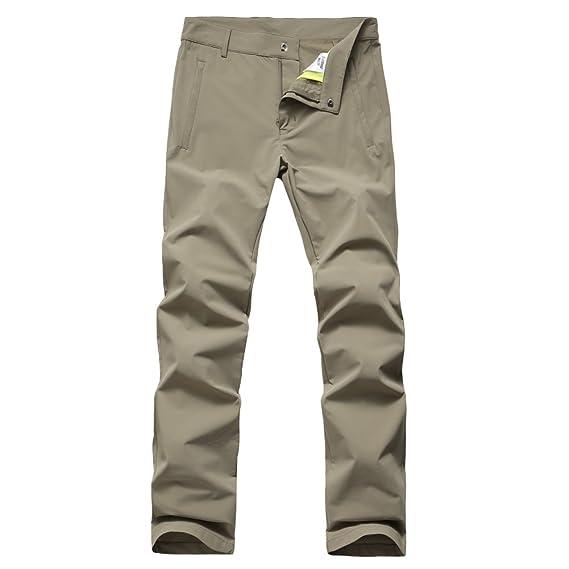 0f7b4938bc80 HYSENM Femme Pantalon Slim Randonnée Eté Léger Respirant Nylon 70D Flexible Pantalon  Cargo Couleur Uni Séchage Rapide Grandes Poches Comfortable Trekking ...