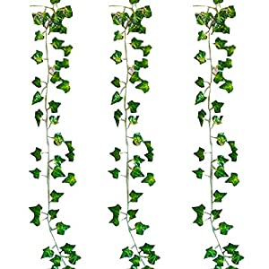 INFLORAL 36pcs (236 Feet) Artificial Flowers Ivy Fake Greenery Vine Leaves for Home Wedding Garden Swing Frame Decoration 79