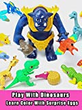 Play With Dinosaurs - Learn Color With Surprise Eggs