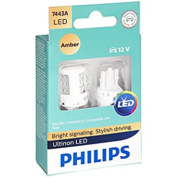 Philips 7443 Ultinon LED Bulb (Amber), 2 Pack