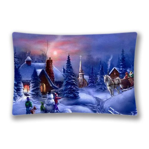 Christmas on Pinterest Pillow Cover Digital Printing Pillow Covers 20x36inch (Twin Sides)Home Decorative Family Gift