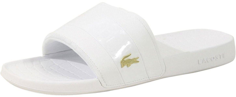 fd1d6696a  Lacoste Fraisier White Gold Mens Beach Summer Flip Flops  Amazon.co.uk   Shoes   Bags