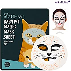 [Holika Holika] Baby Pet Magic Mask Sheet 22ml #Soothing Cat (10 Sheet)