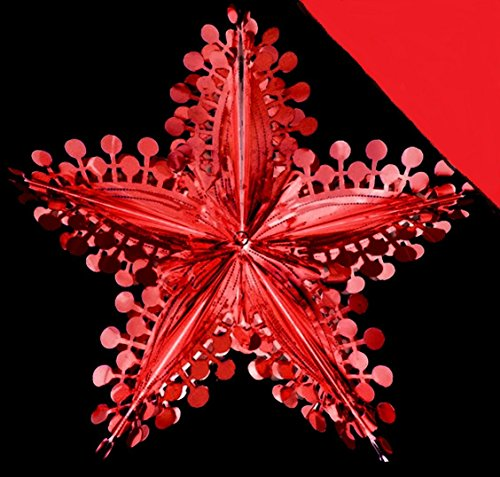 Red Star Foil Christmas Decoration (DP112) ()