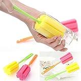 Cleaning Brushes For Glass Milk Bottle/Family Use Glass Sponge Cup Brush