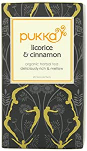 Pukka Herbal Teas Licorice and Cinnamon - 20 Bags, 20 Count