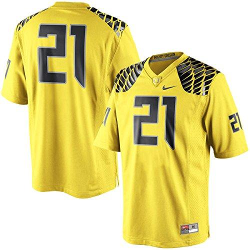 (NIKE #21 Oregon Ducks Yellow Replica College Football Game Jersey (XXX-Large))