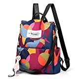 TOTZY Women Backpack Purse, Fashion Nylon Lightweight Anti-Theft Backpack Shoulder Bag with 3