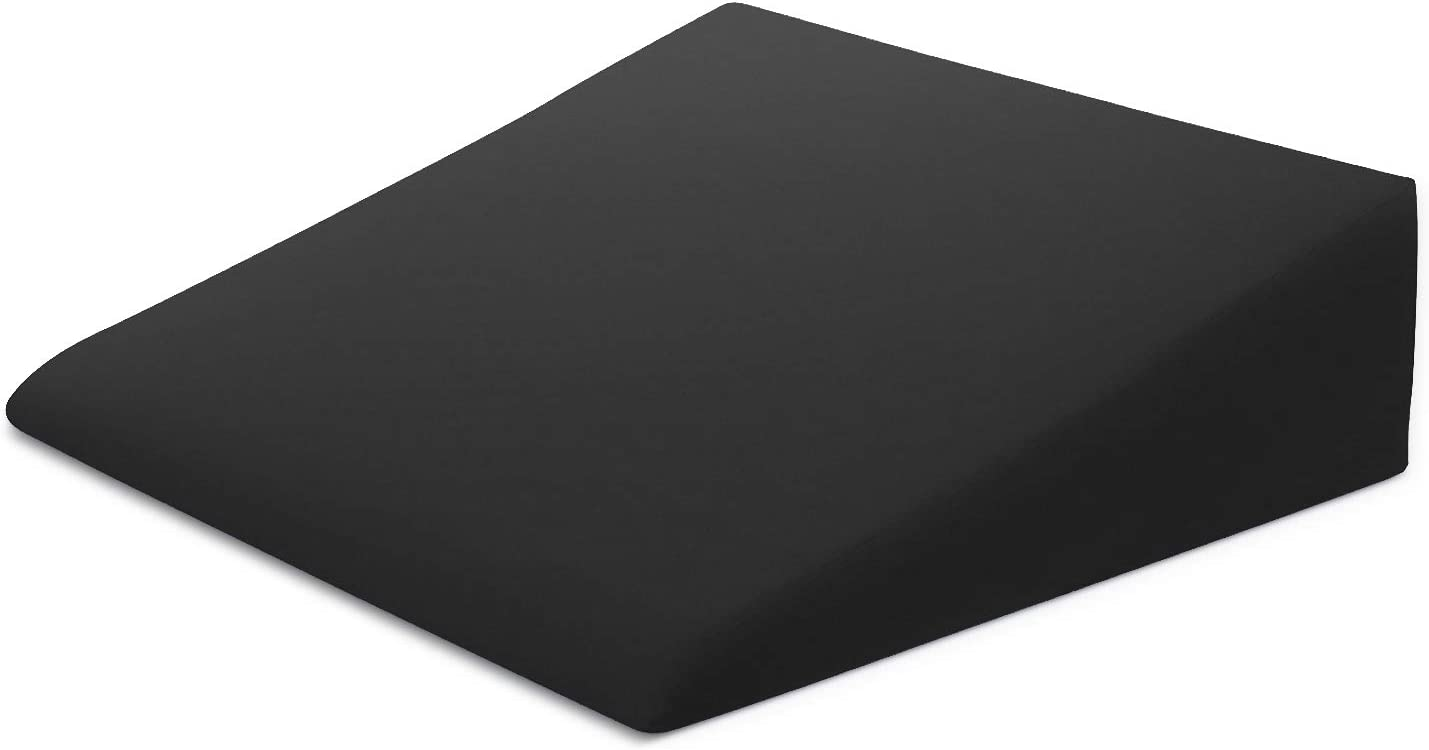 xtreme comforts bed wedge pillow case microfiber cover designed to fit our 27 x 25 x 7 bed wedge pillow black