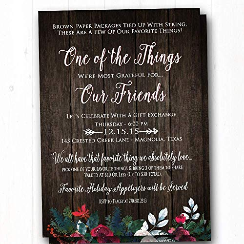 amazon com favorite things party invitation rustic christmas