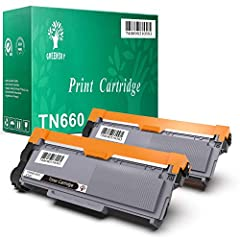 GREENSKY 2 Pack New Compatible Brother TN630 TN660 Toner Cartridge Black-Pay less get more Compatible Brother HL Printer Series HL-2380DW HL-2365DW HL-2360DW HL-L2360DN HL-L2340DW HL-L2320D HL-L2305W HL-L2300D Compatible Brother MFC Printer S...