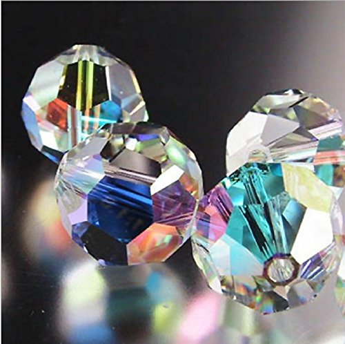 Findings Spacer Charms 450pcs Faceted #5000 Round Shape 6mm clear crystal AB Coating Colors BBS09 ()