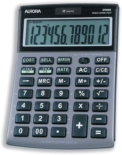Price comparison product image AURORA 12 DIGIT DESKTOP CALC DT661