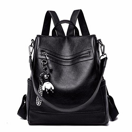 Casual viaggio Wild Fashion Diapers Backpack Tide Bag Todoart Borsa Black da Womens Z6aXH
