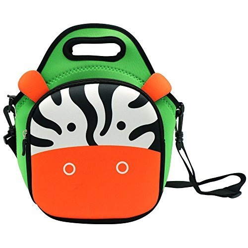 CASTLE STORY Lunch Box Kids Boys Girls, Waterproof and Insulated Neoprene Lunch bag,Fresh and Fit Gourmet Lunch Tote,Lovely Children Lunch Pouch Zipped Main Compartment For School Picnic,Zebra for $<!--$9.99-->