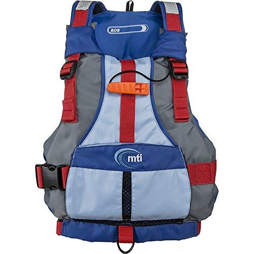 MTI Adventurewear Youth Bob Life Jacket, Gray/Blue, 50-90 lb