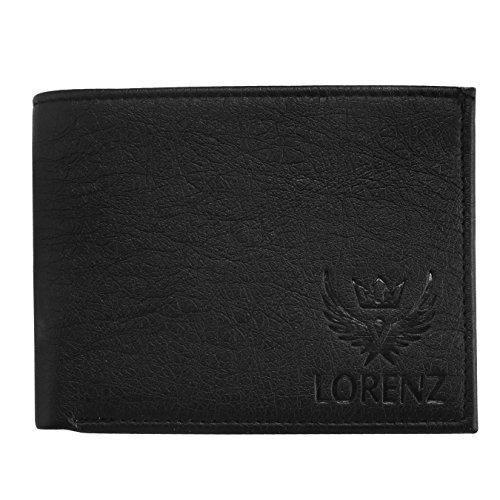 LORENZ Combo of Black Men's Wallet, Sunglasses & Watch   Choose Any one   Brown Wallet, Army Design Wallet, Blue Wallet or Black Wallet
