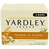 Yardley Bar Soap, Oatmeal & Almond, 2 Count (Pack of 5)