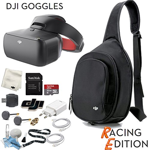 DJI Goggles RE FPV Headset (Racing Edition) Sling Bag Bundle (Pro Model Goggle)