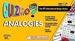 Learning Advantage 8209 QUIZMO Analogies Card