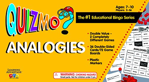 Learning Advantage 8209 QUIZMO Analogies Card]()