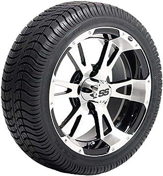 Amazon Com Itp Ss112 Machined 14 Golf Cart Wheels And Slasher Gtx 205 30 14 Dot Golf Cart Tires Combo Set Of 4 Automotive