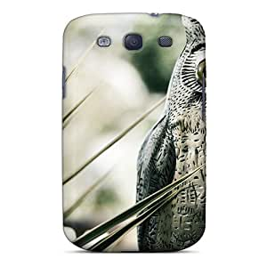 KarenJohnston Galaxy S3 Well-designed Hard Case Cover Wood Owl Protector