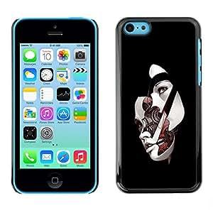 Be Good Phone Accessory // Dura Cáscara cubierta Protectora Caso Carcasa Funda de Protección para Apple Iphone 5C // Sci Fi Abstract Womans Face