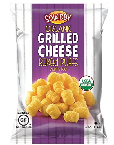 Snikiddy Organic Baked Puffs, Grilled Cheese, 4 oz., 12 Count