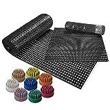 Ergocell Rubber Floor Mat Brush - Brush Insert for Perforated Rubber Mats Outdoor- Indoor | Covert Drainage Rubber Runner Mat into Boot Scraper Doormat - Pack of 50 - Cream