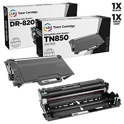LD Compatible Brother TN850 / DR820 Toner & Drum Unit Set of 2 for DCP-L5500DN, DCP-L5600DN, DCP-L5650DN, HL-L5000D, HL-L5100DN, HL-L5200DW, HL-L5200DWT, HL-L6200DW, MFC-L5850DW, MFC-L5900DW
