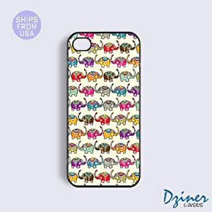 iPhone 4 4s Case - Cute Baby Elephants iPhone Cover by lolosakes