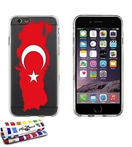 Carcasa Flexible Ultra-Slim APPLE IPHONE 6 4.7 POUCES  de exclusivo motivo [Bandera turquia] [Gris] de MUZZANO  + ESTILETE y PAÑO MUZZANO REGALADOS - La Protección Antigolpes ULTIMA, ELEGANTE Y DURADERA para su APPLE IPHONE 6 4.7 POUCES